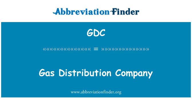 GDC: Gas Distribution Company