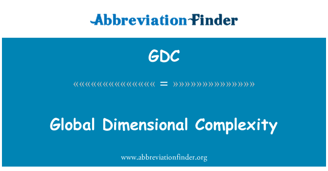 GDC: Global Dimensional Complexity
