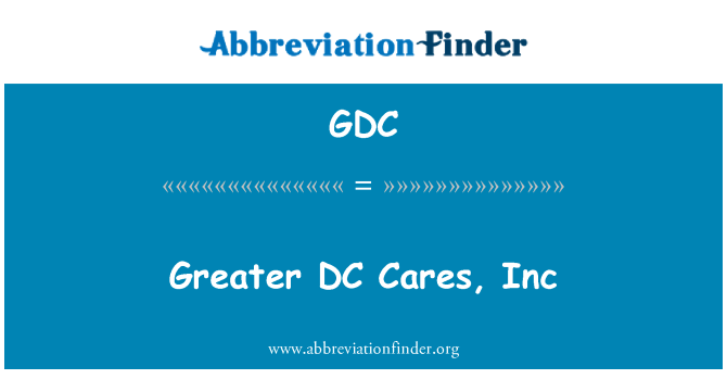 GDC: Greater DC Cares, Inc