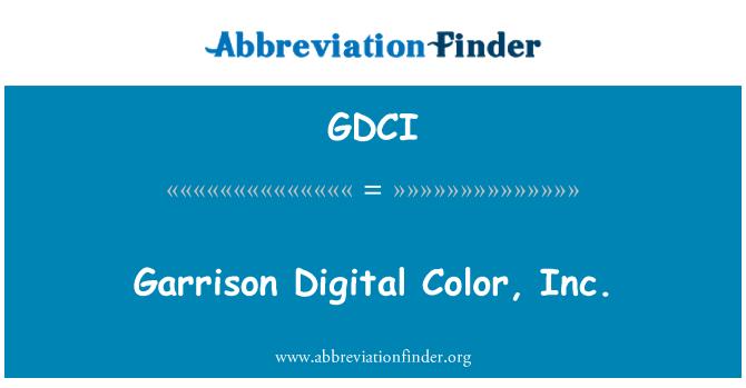 GDCI: Garrison Digital Color, Inc.