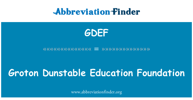 GDEF: Groton Dunstable Education Foundation
