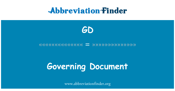 GD: Governing Document