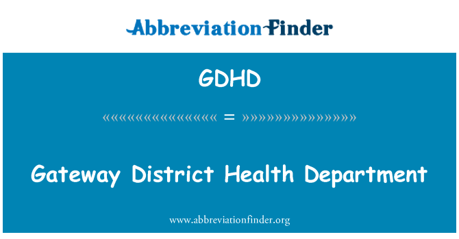 GDHD: Gateway District Health Department