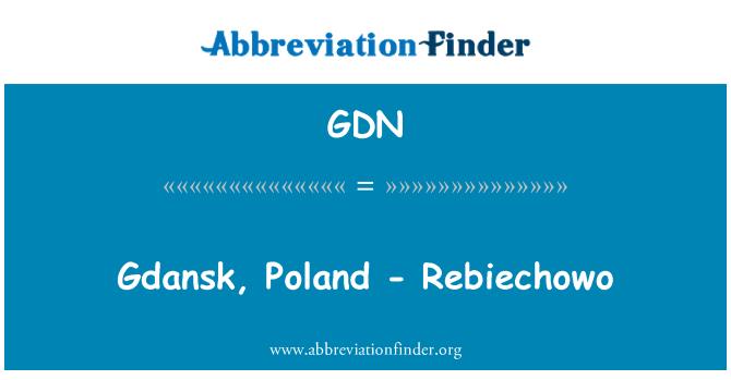 GDN: Gdansk, Poland - Rebiechowo
