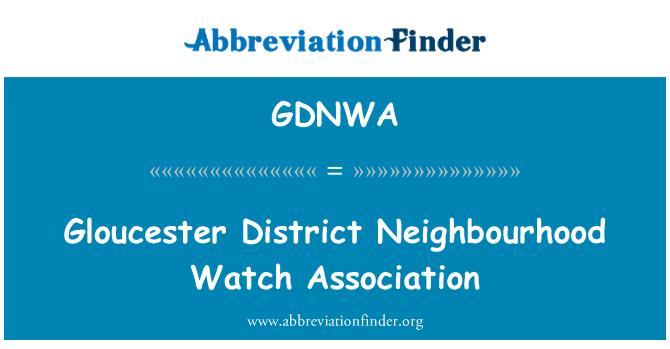 GDNWA: Gloucester District Neighbourhood Watch Association