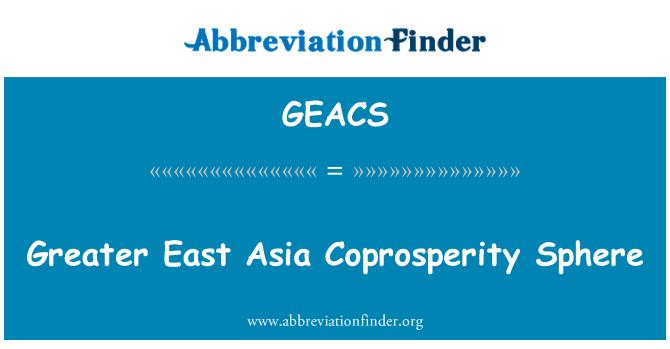 GEACS: Greater East Asia Coprosperity Sphere