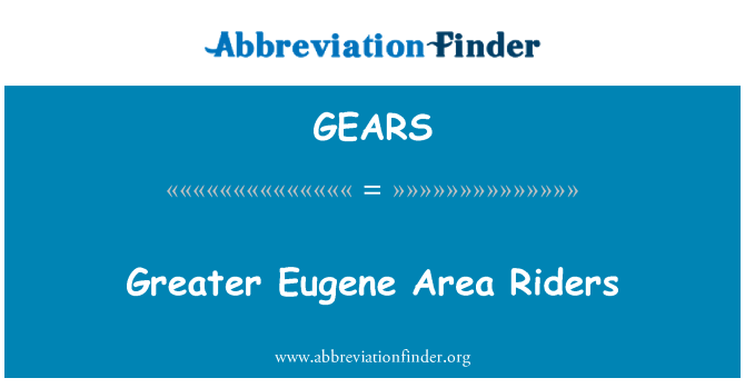 GEARS: Greater Eugene Area Riders