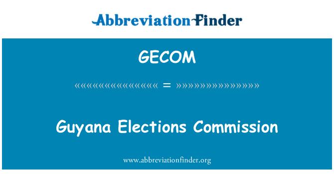 GECOM: Guyana Elections Commission