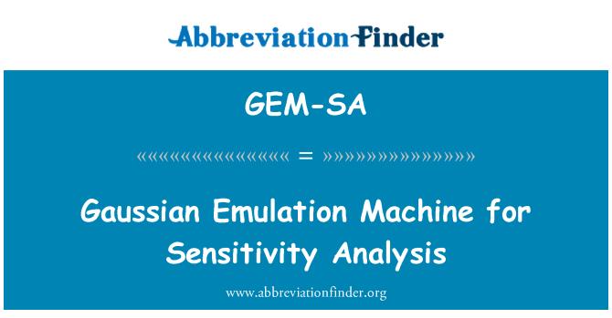 GEM-SA: Gaussian Emulation Machine for Sensitivity Analysis