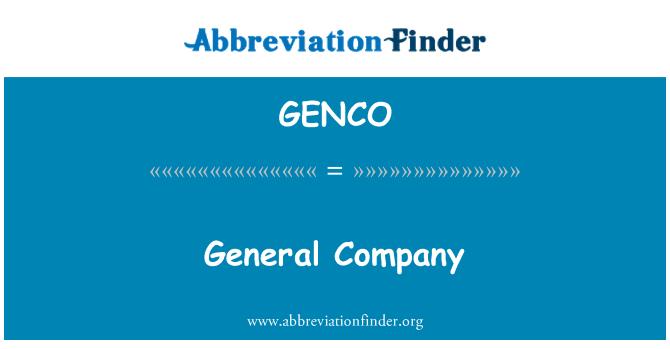 GENCO: General Company
