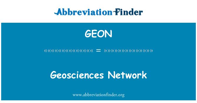 GEON: Geosciences Network