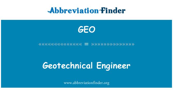 GEO: วิศวกรธรณี