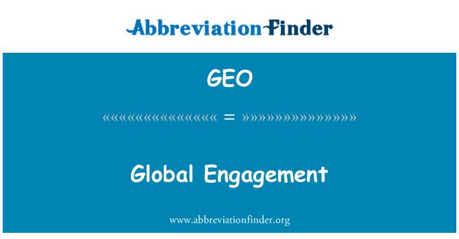GEO: Penglibatan global