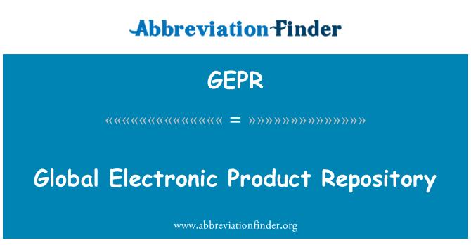 GEPR: عالمی الیکٹرانک مصنوعات کے انبار