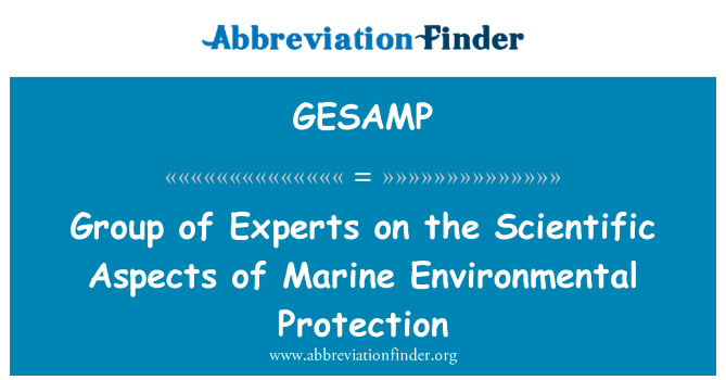 GESAMP: Grupo de expertos sobre los aspectos científicos de la protección del medio ambiente marino