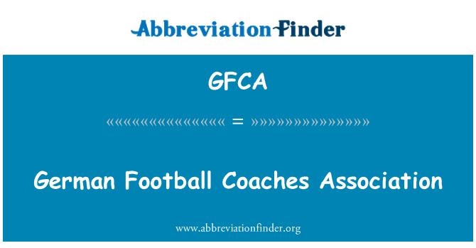 GFCA: German Football Coaches Association