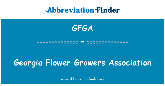 GFGA: Georgia Flower Growers Association
