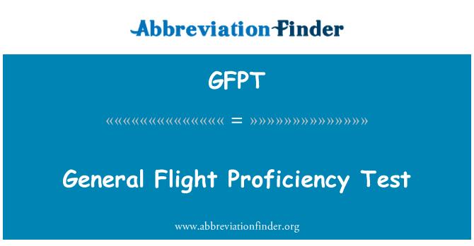 GFPT: Ujian kemahiran am penerbangan