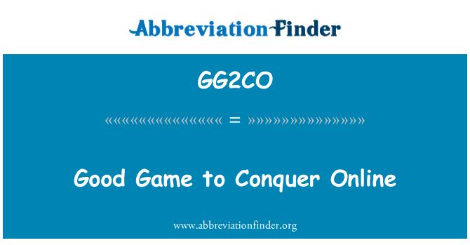 GG2CO: Buen juego en línea para conquistar
