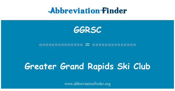 GGRSC: Mayor Club de esquí de Grand Rapids