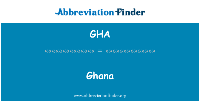 GHA: Ghana