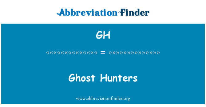 GH: Ghost Hunters