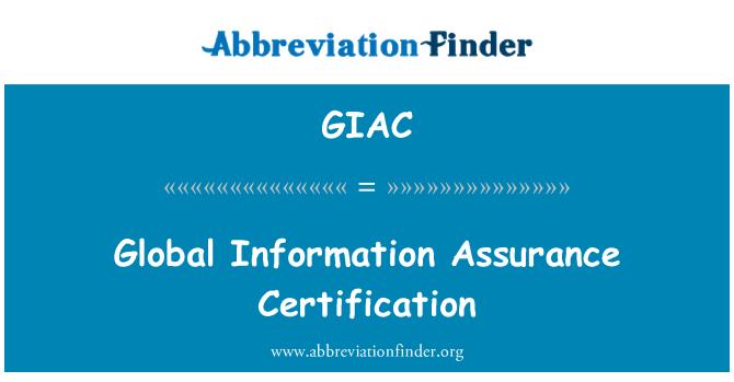 GIAC: Üldise teabe tagamine sertifitseerimise