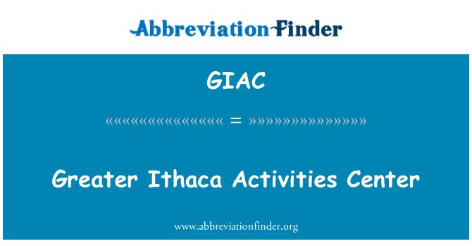 GIAC: Suurem Ithaca tegevuse keskus