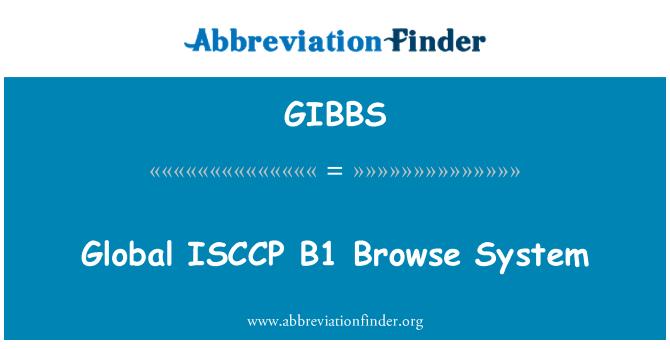 GIBBS: Sistema de navegación global ISCCP B1