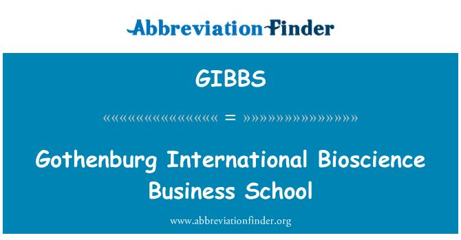 GIBBS: Escuela Internacional de negocios Bioscience Gotemburgo