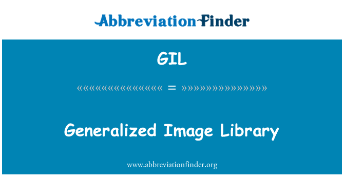 GIL: Generalized Image Library