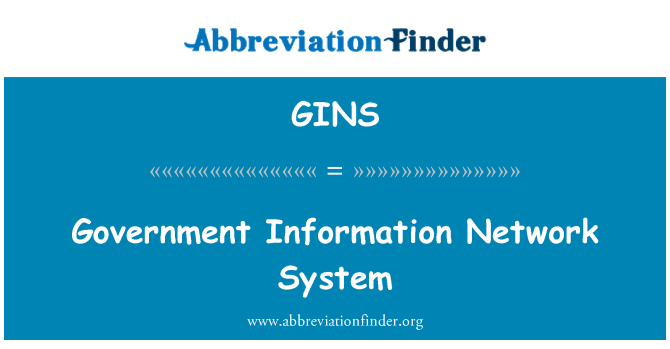 GINS: Government Information Network System