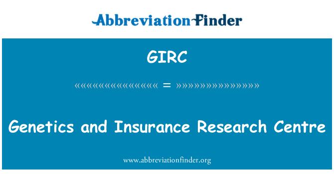 GIRC: Genética y centro de investigación de seguros