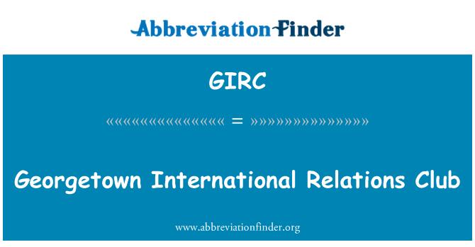 GIRC: Club de relaciones internacionales de Georgetown