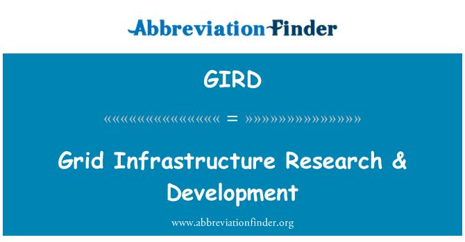 GIRD: Grid Infrastructure Research & Development