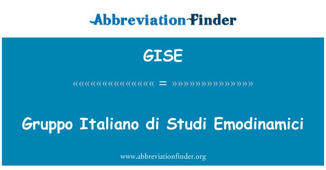 GISE: Gruppo Italiano di Studi Emodinamici