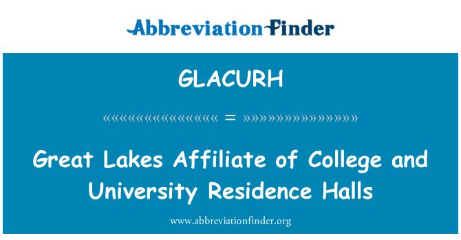 GLACURH: Büyük Göller bağlı bir yüksekokul ve üniversite oturma salonları