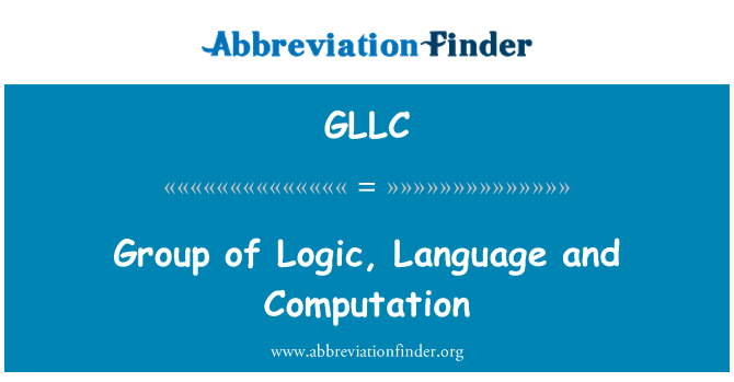 GLLC: Group of Logic, Language and Computation