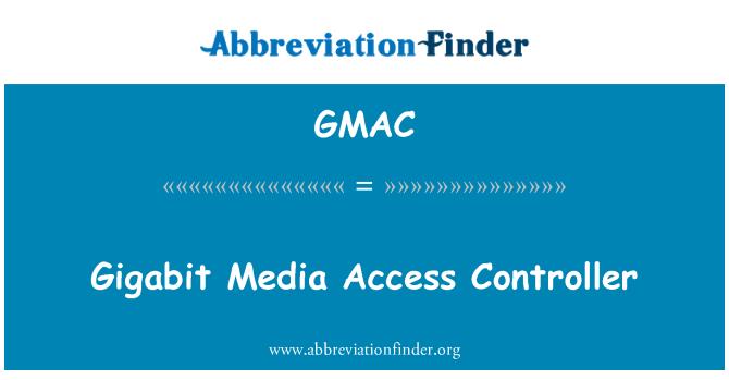 GMAC: 十億位元介質存取控制器