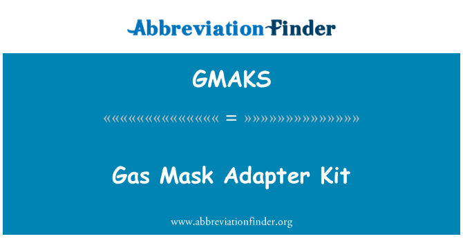 GMAKS: Kit de adaptador de máscara de gas
