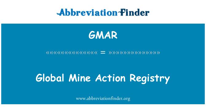 GMAR: Global Mine Action Registry