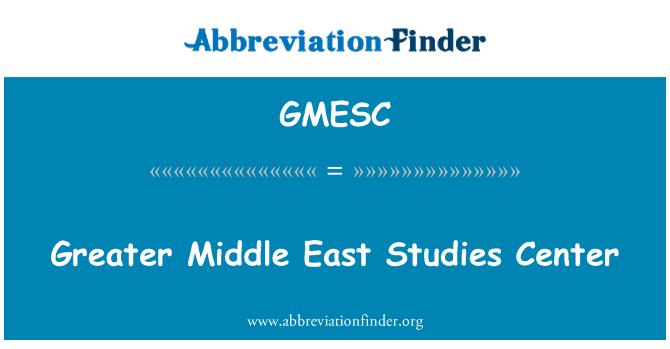 GMESC: Greater Middle East Studies Center