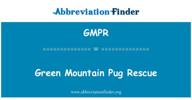 GMPR: Green Mountain Pug Rescue