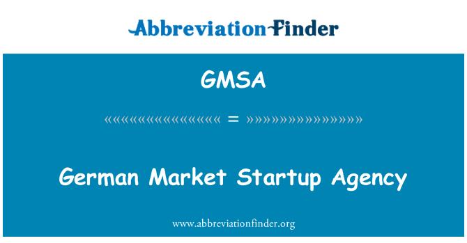 GMSA: Agencia alemana mercado Startup