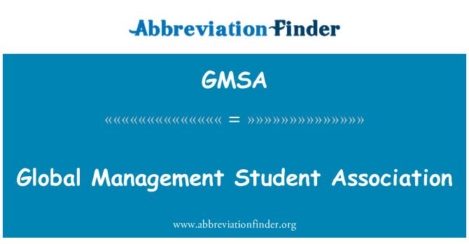 GMSA: Gestión global de la Asociación de estudiantes