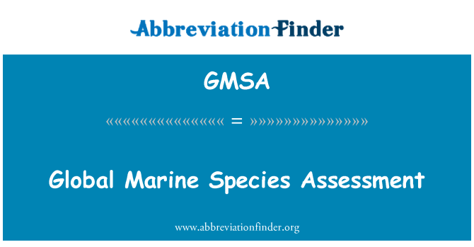 GMSA: Evaluación global de especies marinas