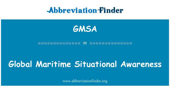 GMSA: Genel Denizcilik durumsal farkındalık