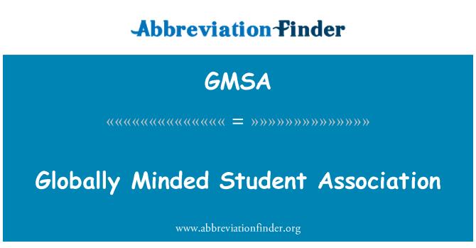 GMSA: Mentalidad global Student Association