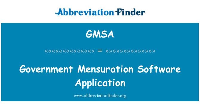 GMSA: Aplicación de Software de medición de gobierno