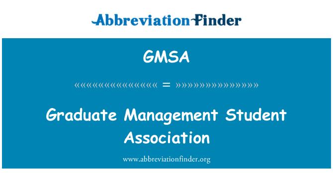 GMSA: Asociación de estudiantes graduados en administración